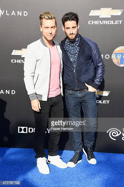 Singer Lance Bass and artist Michael Turchin attend the premiere of Disney's 'Tomorrowland' at AMC Downtown Disney 12 Theater on May 9 2015 in...