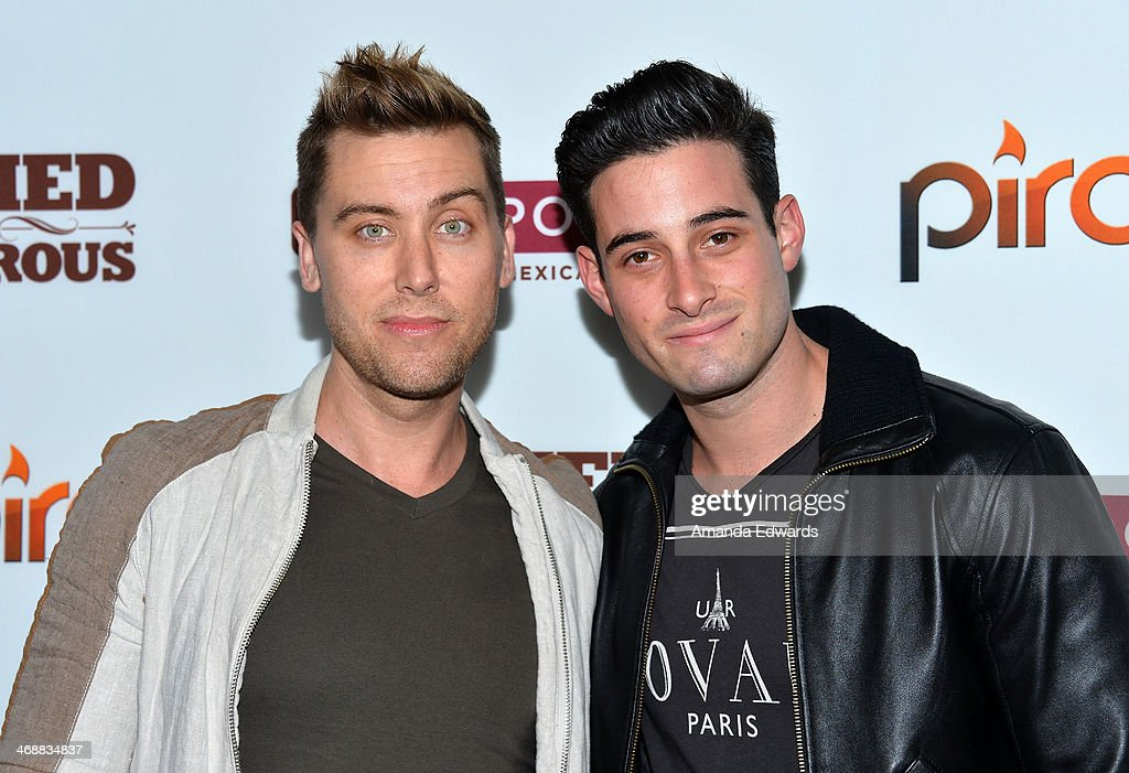 Singer <a gi-track='captionPersonalityLinkClicked' href=/galleries/search?phrase=Lance+Bass&family=editorial&specificpeople=210566 ng-click='$event.stopPropagation()'>Lance Bass</a> (L) and Michael Turchin arrive at the Chipotle World Premiere of web series 'Farmed And Dangerous' at the DGA Theater on February 11, 2014 in Los Angeles, California.
