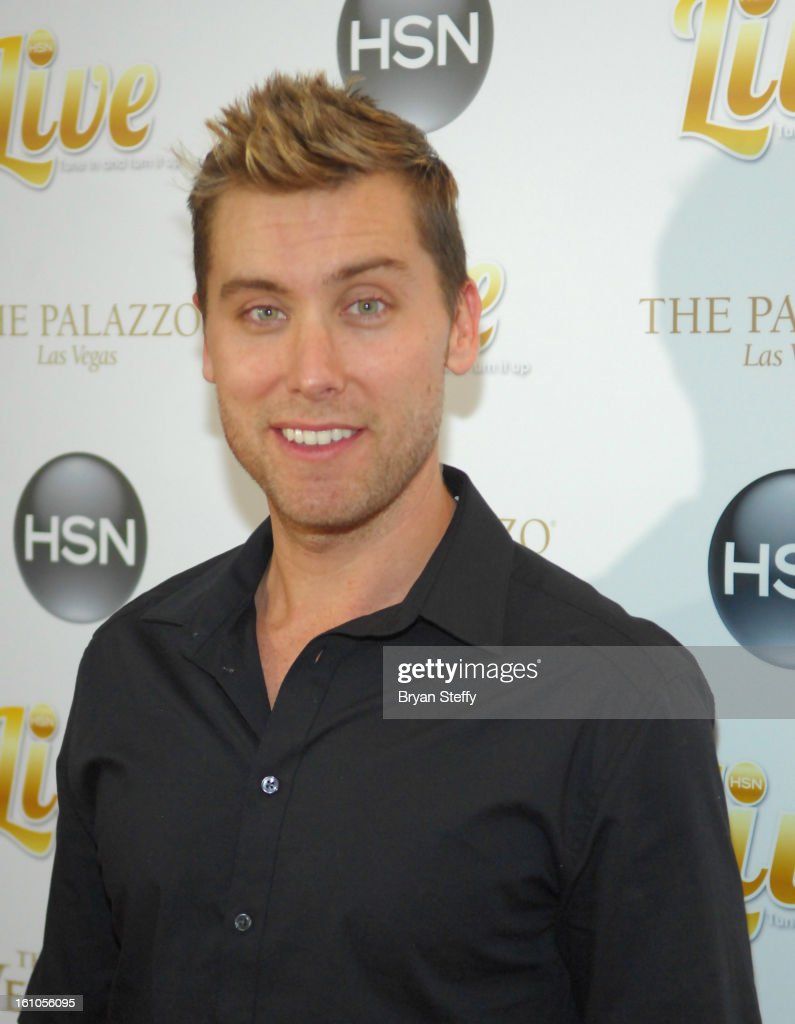 Singer Lance Bass arrives at the HSN Live Michael Bolton concert at The Venetian Resort Hotel Casino on February 8, 2013 in Las Vegas, Nevada.
