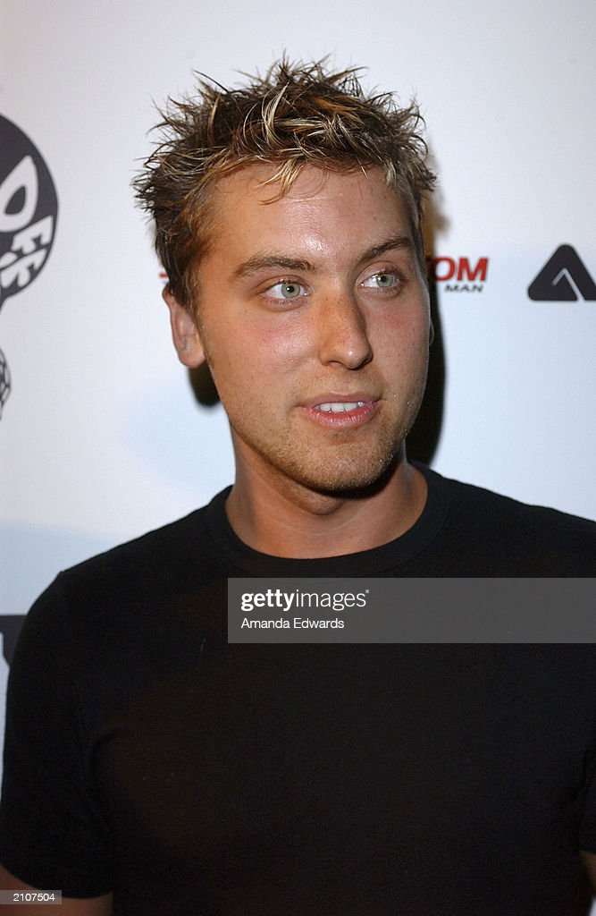 Singer Lance Bass arrives at the Smooth Pre-BET party at Club A.D. on June 23, 2003 in Los Angeles, California.