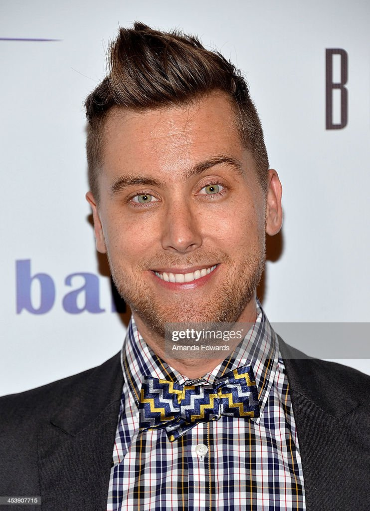 Singer <a gi-track='captionPersonalityLinkClicked' href=/galleries/search?phrase=Lance+Bass&family=editorial&specificpeople=210566 ng-click='$event.stopPropagation()'>Lance Bass</a> arrives at the 'Tie The Knot' grand store opening at The Beverly Center on December 5, 2013 in Los Angeles, California.