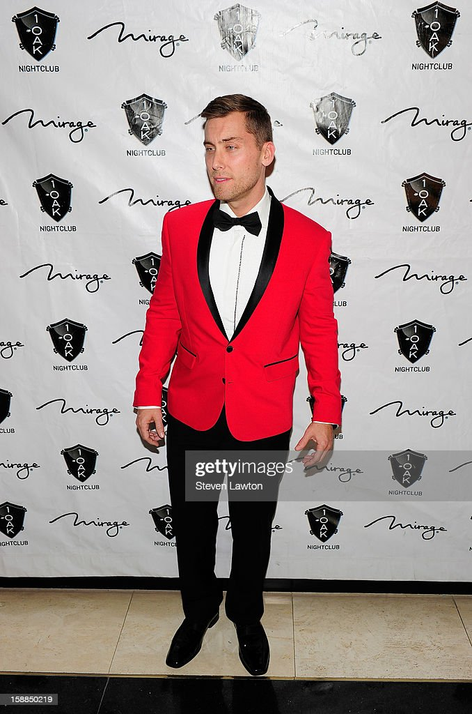 Singer Lance Bass arrives for a New Year's countdown hosted by Kim Kardashian at 1 OAK Las Vegas at The Mirage Hotel & Casino on December 31, 2012 in Las Vegas, Nevada.