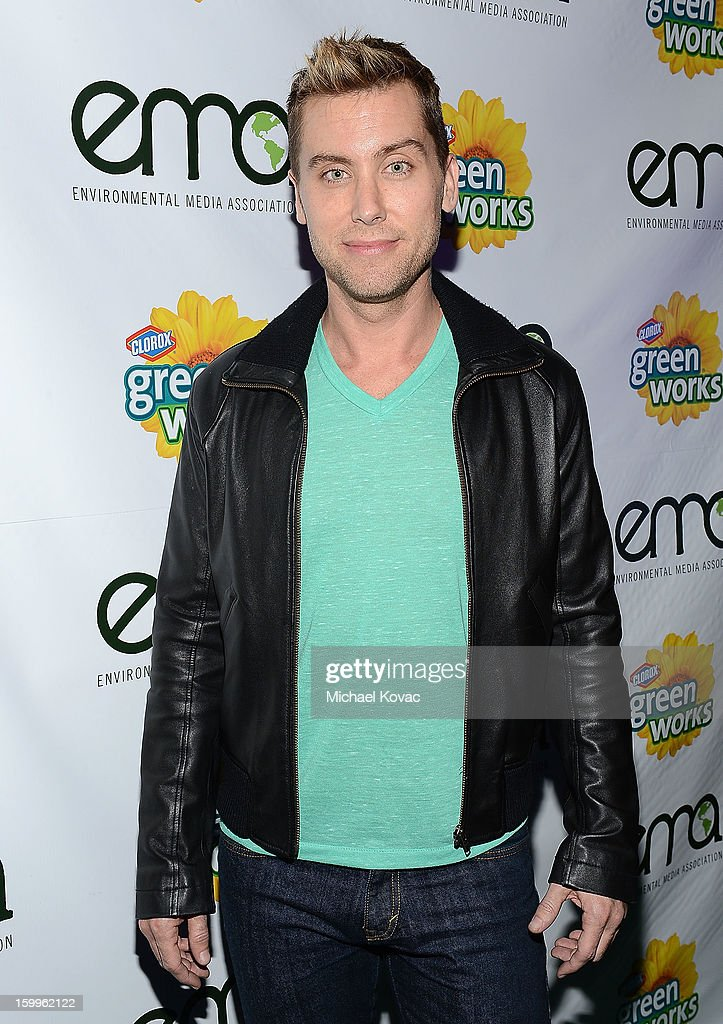 Singer Lance Bass attends Celebrities and the EMA Help Green Works Launch New Campaign at Sur Restaurant on January 23, 2013 in Los Angeles, California.