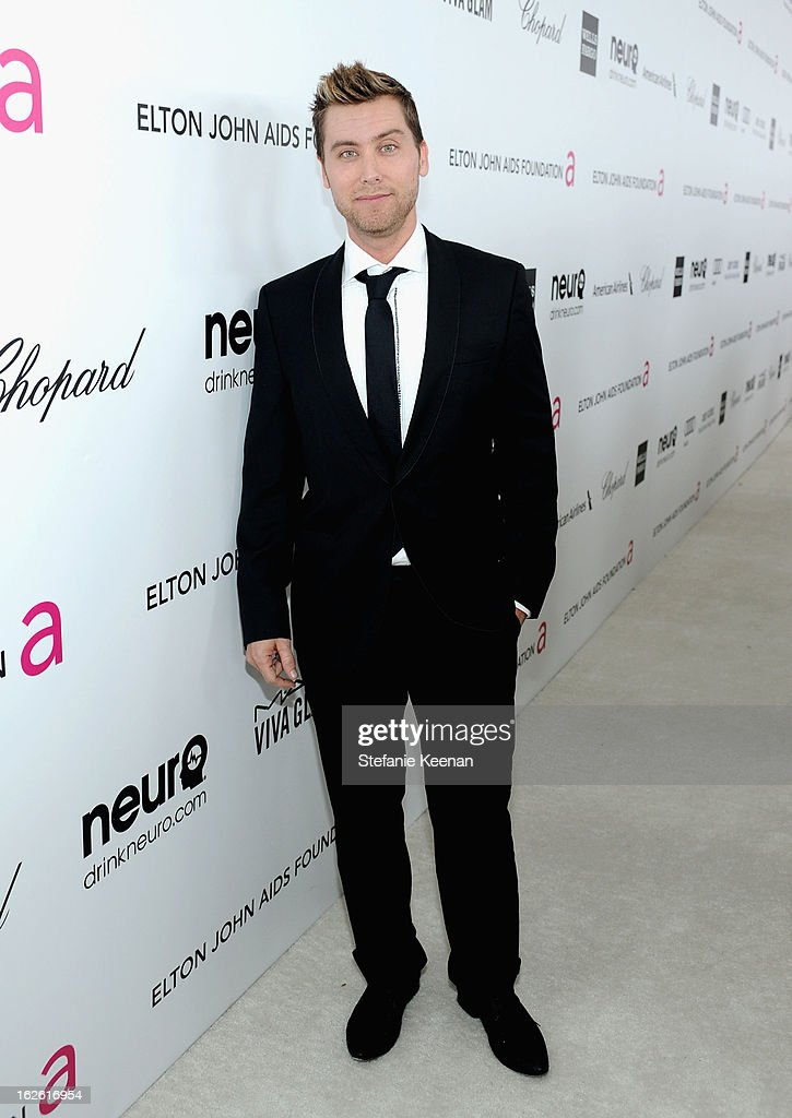 Singer <a gi-track='captionPersonalityLinkClicked' href=/galleries/search?phrase=Lance+Bass&family=editorial&specificpeople=210566 ng-click='$event.stopPropagation()'>Lance Bass</a> attends Chopard at 21st Annual Elton John AIDS Foundation Academy Awards Viewing Party at West Hollywood Park on February 24, 2013 in West Hollywood, California.