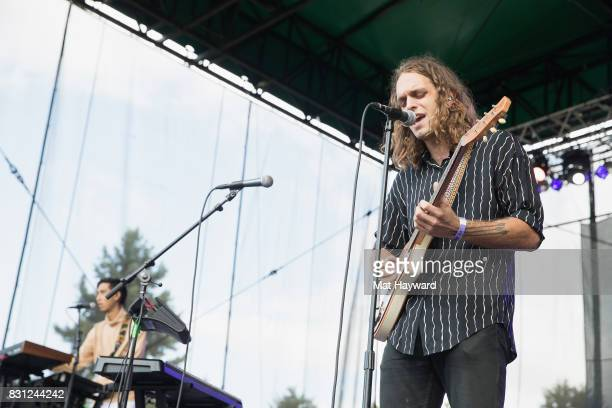 Singer Landon Jacobs of Sir Sly performs on stage during the Summer Camp Music Festival hosted by 1077 The End at Marymoor Park on August 13 2017 in...