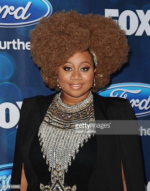 Singer La'Porsha Renae attends the The 'American Idol XV' finalists event at The London Hotel on February 25 2016 in West Hollywood California