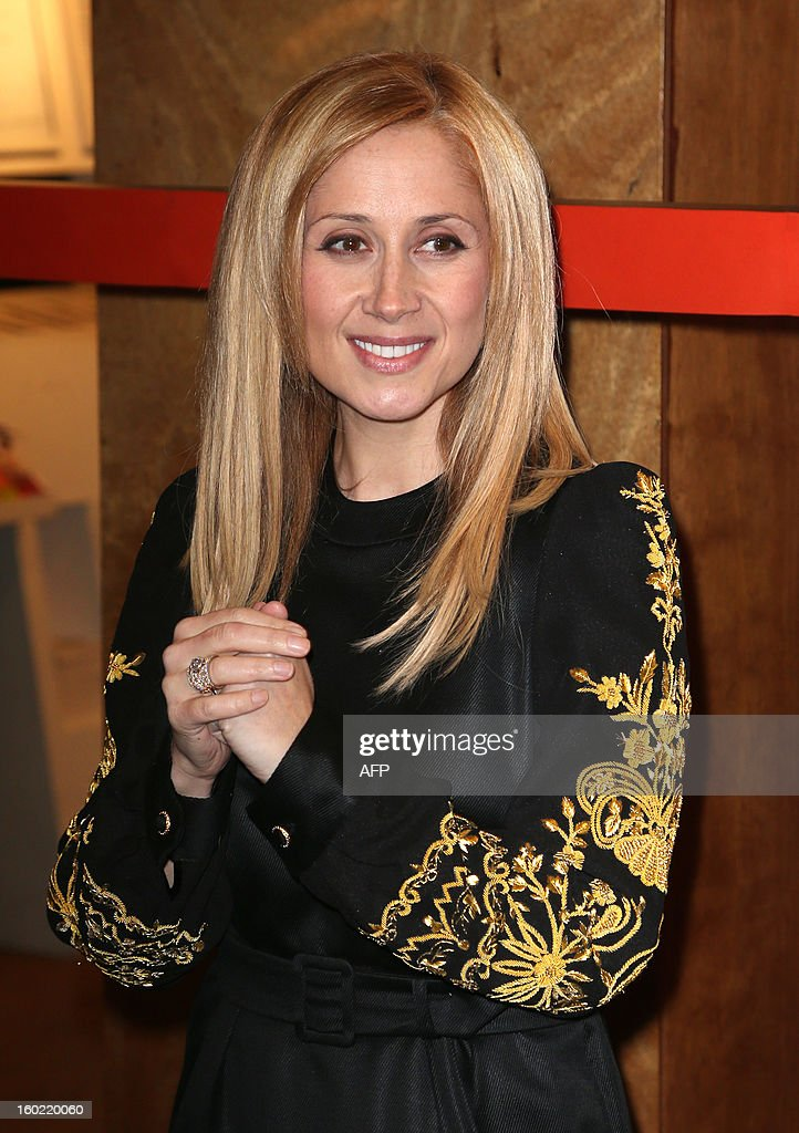 Singer Lara Fabian arrives for a special event gathering artists and celebrities in support of French government plans to legalise gay marriage and same-sex adoption on January 27, 2013 in Paris, two days before parliament takes up the text, which has been met with strong opposition from the right and the Catholic Church.