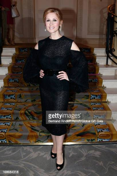 Singer Lara Fabian attends 'Global Gift Gala' at Hotel George V on May 13 2013 in Paris France