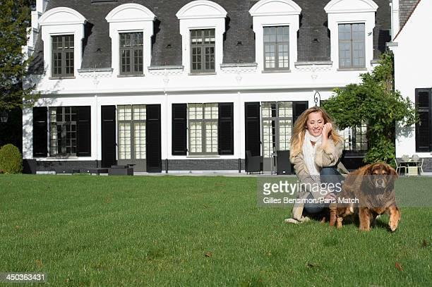 Singer Lara Fabian is photographed at home for Paris Match on November 9 2013 in Waterloo Belgium
