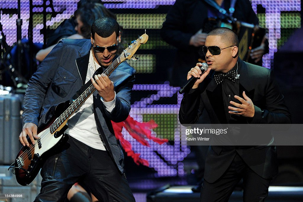 Singer Larry Hernandez (R) performs at the Billboard Mexican Music Awards presented by State Farm on October 18, 2012 in Los Angeles, California.