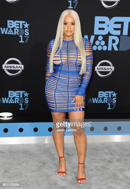Singer Lateysha Grace attends the 2017 BET Awards at Microsoft Theater on June 25 2017 in Los Angeles California