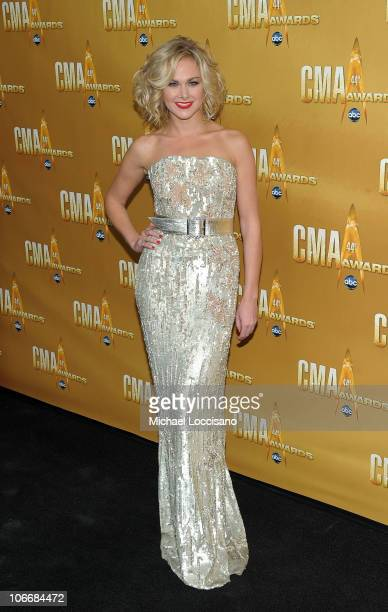 Singer Laura Bell Bundy attends the 44th Annual CMA Awards at the Bridgestone Arena on November 10 2010 in Nashville Tennessee