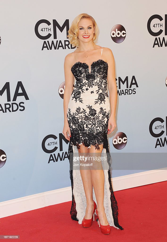 Singer Laura Bell Bundy attends the 47th annual CMA Awards at the Bridgestone Arena on November 6, 2013 in Nashville, Tennessee.