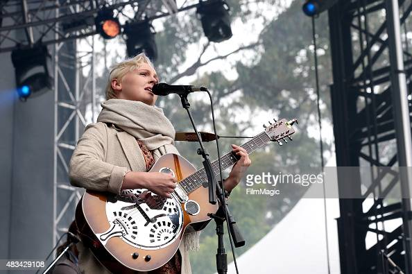 Singer Laura Marling performs at the Sutro Stage during day 2 of the 2015 Outside Lands Music And Arts Festival at Golden Gate Park on August 8 2015...
