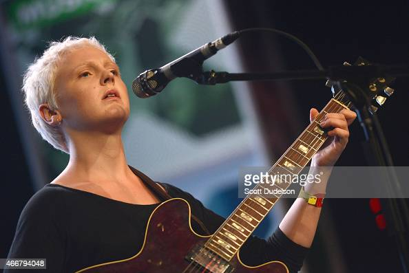 Singer Laura Marling performs onstage at the Austin Convention Center during KCRW Radio's Day Stage showcase on March 18 2015 in Austin Texas