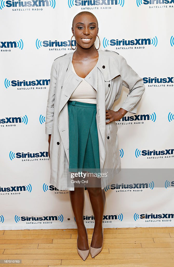 Singer Laura Mvula visits the SiriusXM Studios on April 19, 2013 in New York City.