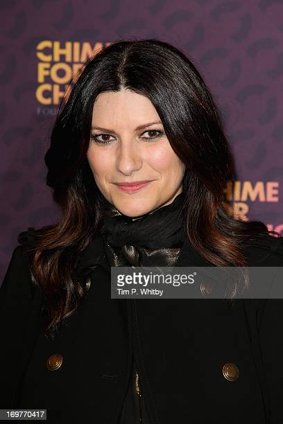 Singer Laura Pausini poses backstage in the media room at the 'Chime For Change The Sound Of Change Live' Concert at Twickenham Stadium on June 1...