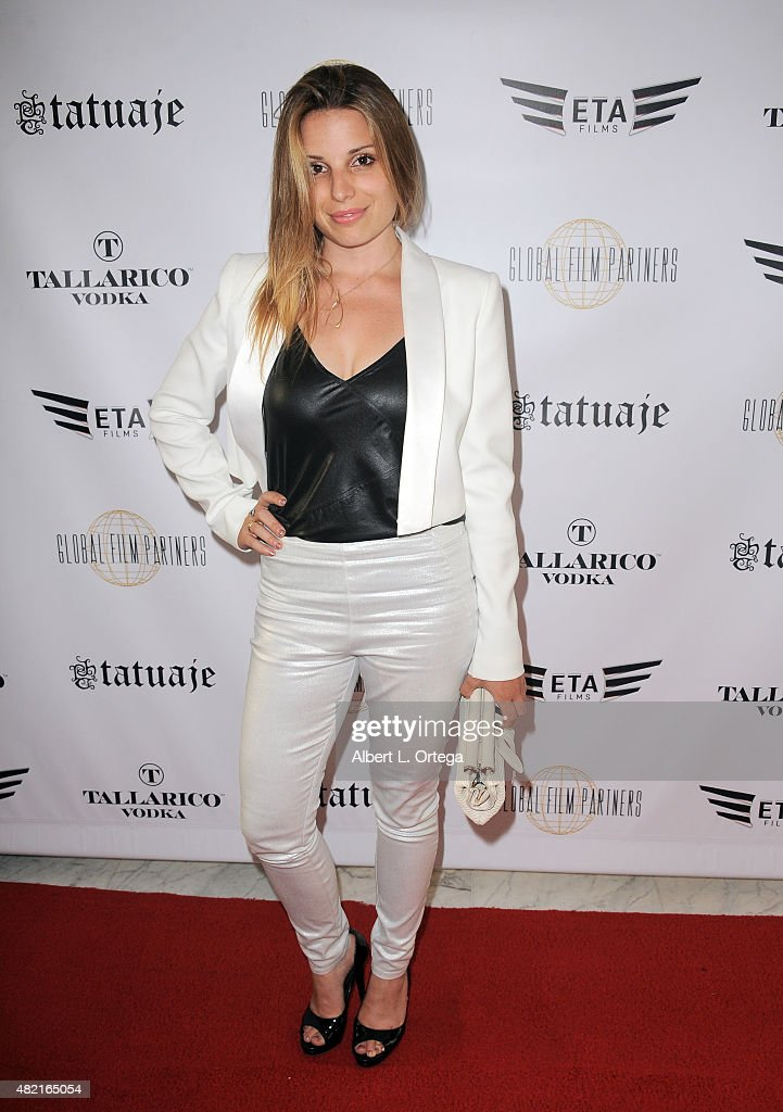 Singer Laura Saggers arrives for the screening of 'Blunt Force Trauma' held at CAA on July 20, 2015 in Century City, California.