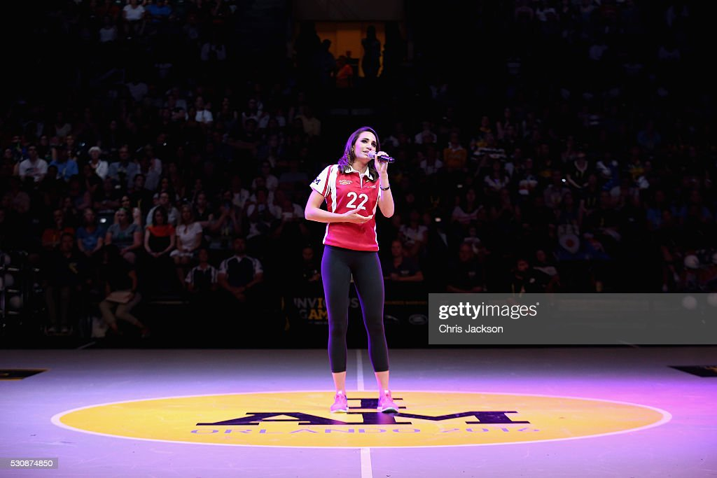 Singer <a gi-track='captionPersonalityLinkClicked' href=/galleries/search?phrase=Laura+Wright+-+Singer&family=editorial&specificpeople=15063715 ng-click='$event.stopPropagation()'>Laura Wright</a> performs during the wheelchair rugby at the Invictus Games Orlando 2016 at ESPN Wide World of Sports on May 11, 2016 in Orlando, Florida. Prince Harry, patron of the Invictus Games Foundation is in Orlando for the Invictus Games 2016. The Invictus Games is the only International sporting event for wounded, injured and sick servicemen and women. Started in 2014 by Prince Harry the Invictus Games uses the power of Sport to inspire recovery and support rehabilitation.