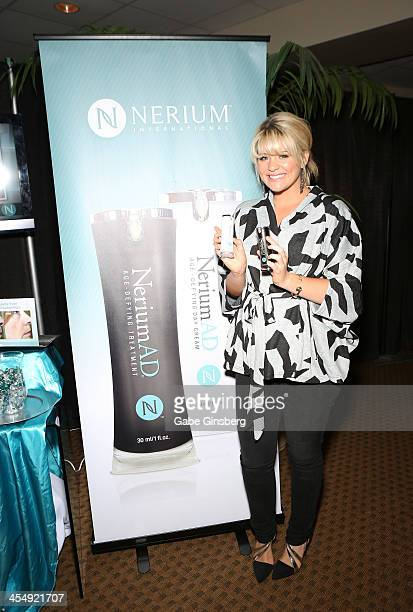 Singer Lauren Alaina arrives at Nerium International at the American Country Awards at the Mandalay Bay Events Center on December 10 2013 in Las...