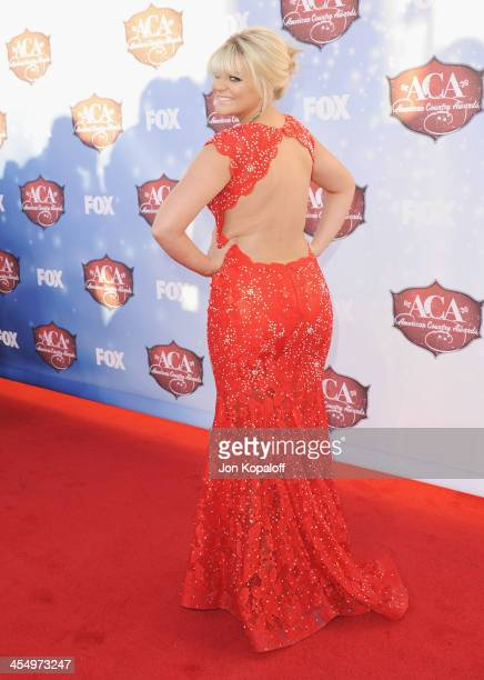 Singer Lauren Alaina arrives at the American Country Awards 2013 at the Mandalay Bay Events Center on December 10 2013 in Las Vegas Nevada