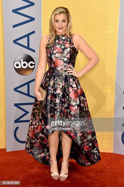 Singer Lauren Alaina attends the 50th annual CMA Awards at the Bridgestone Arena on November 2 2016 in Nashville Tennessee