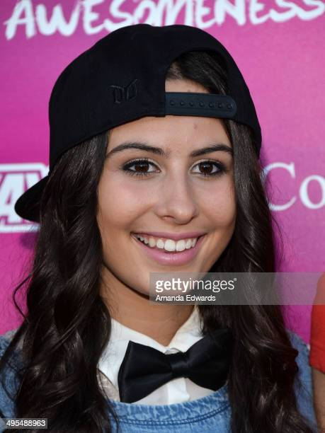 Singer Lauren Cimorelli of the band Cimorelli arrives at the 'Summer With Cimorelli' red carpet premiere event at the YouTube Space LA on June 3 2014...