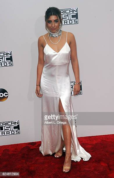 Singer Lauren Elizabeth arrives for the 2016 American Music Awards held at Microsoft Theater on November 20 2016 in Los Angeles California