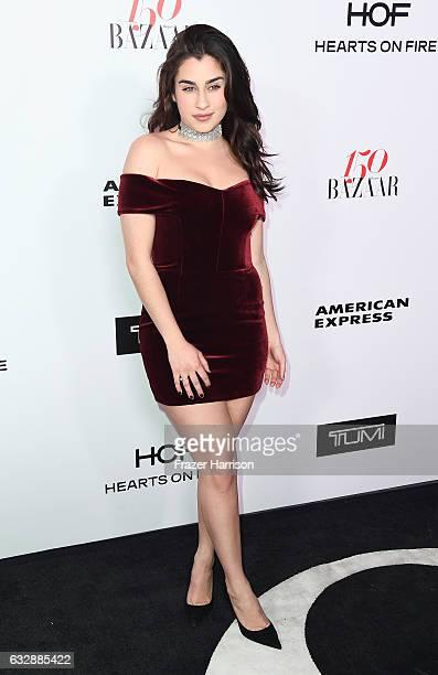 Singer Lauren Jauregui arrives at Harper's Bazaar Celebrates 150 Most Fashionable Women at Sunset Tower Hotel on January 27 2017 in West Hollywood...