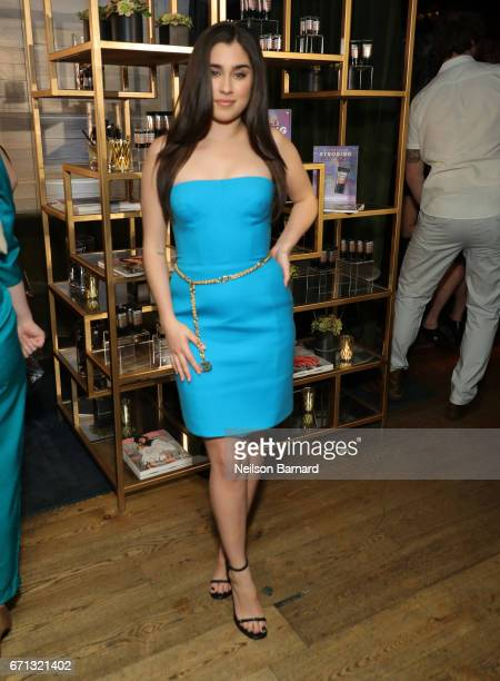 Singer Lauren Jauregui attends Marie Claire's 'Fresh Faces' celebration with an event sponsored by Maybelline at Doheny Room on April 21 2017 in West...