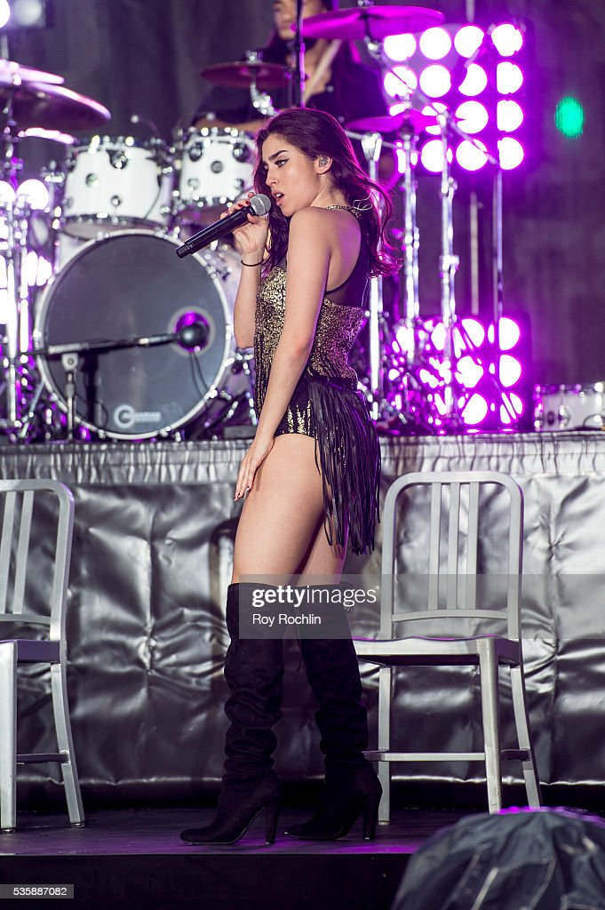 Singer Lauren Jauregui Hamilton of Fifth Harmony Performs On NBC's 'Today' at Rockefeller Plaza on May 30, 2016 in New York City.
