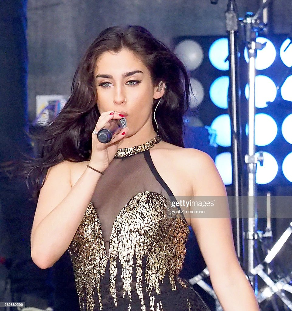 Singer <a gi-track='captionPersonalityLinkClicked' href=/galleries/search?phrase=Lauren+Jauregui&family=editorial&specificpeople=9766444 ng-click='$event.stopPropagation()'>Lauren Jauregui</a> of band Fifth Harmony performs on On NBC's 'Today' Rockefeller Plaza on May 30, 2016 in New York City.