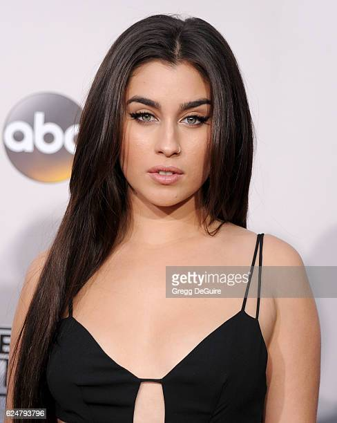 Singer Lauren Jauregui of Fifth Harmony arrives at the 2016 American Music Awards at Microsoft Theater on November 20 2016 in Los Angeles California