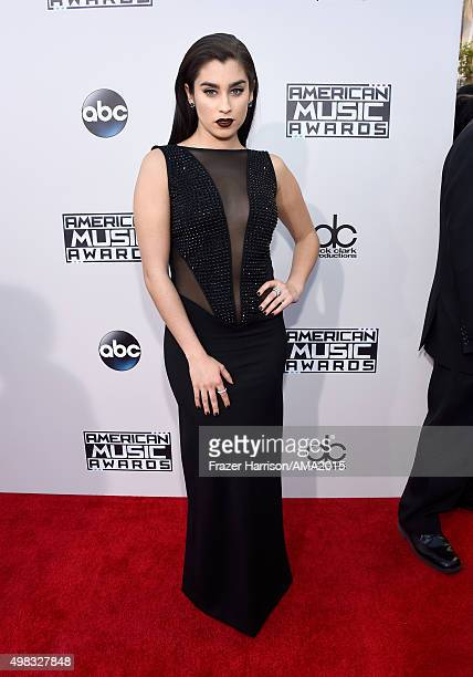 Singer Lauren Jauregui of Fifth Harmony attends the 2015 American Music Awards at Microsoft Theater on November 22 2015 in Los Angeles California