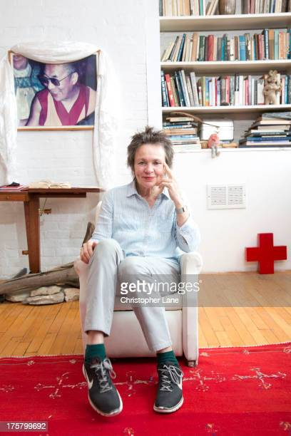Singer Laurie Anderson is photographed for The London Times on May 22 2013 in New York City PUBLISHED IMAGE