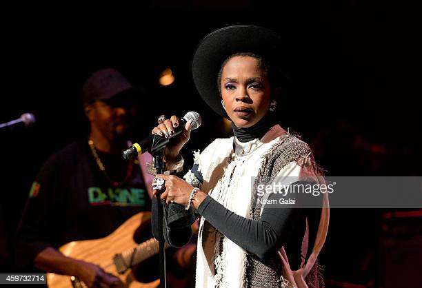Singer Lauryn Hill performs during The Wailers 30th Anniversary Performance at The Apollo Theater on November 29 2014 in New York City