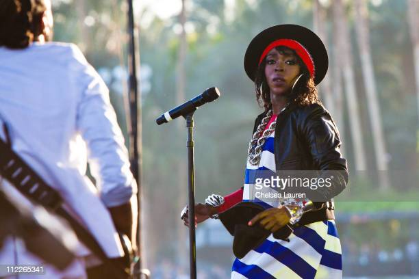 Singer Lauryn Hill performs on day 1 of the 2011 Coachella Valley Music Arts Festival at The Empire Polo Club on April 15 2011 in Indio California