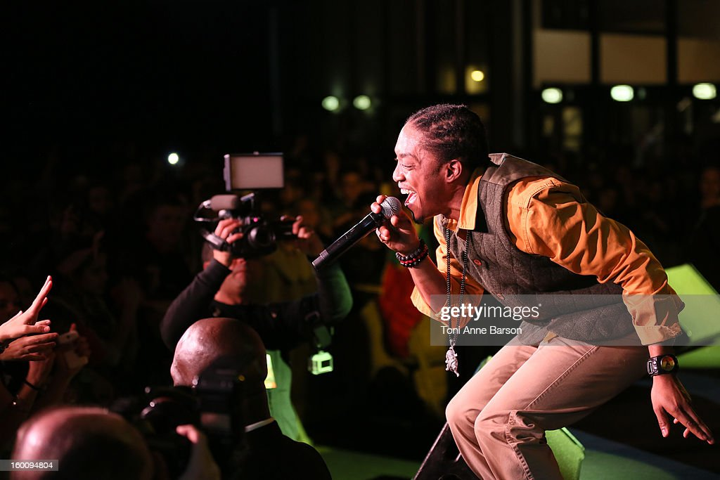 Singer Laza Morgan performs during 'Before NRJ Music Awards 2013 Concert' at Palais des Festivals on January 25, 2013 in Cannes, France.