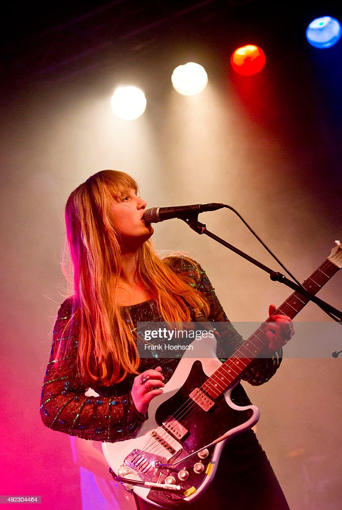 Singer Lea Emmery of the British band Kid Wave performs live in support of The Vaccines during a concert at the Postbahnhof on October11 2015 in...
