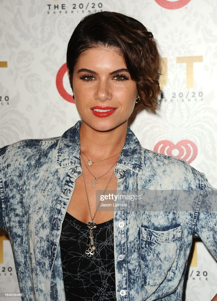 Singer Leah LaBelle attends the '20/20' album release party with Justin Timberlake at El Rey Theatre on March 18, 2013 in Los Angeles, California.