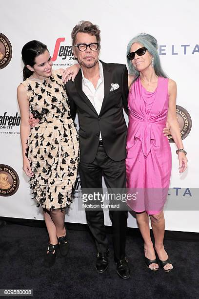 Singer Leah Victoria Hennessey singer David Johansen and Mara Hennessey attend the Friars Club Honors Martin Scorsese With Entertainment Icon Award...