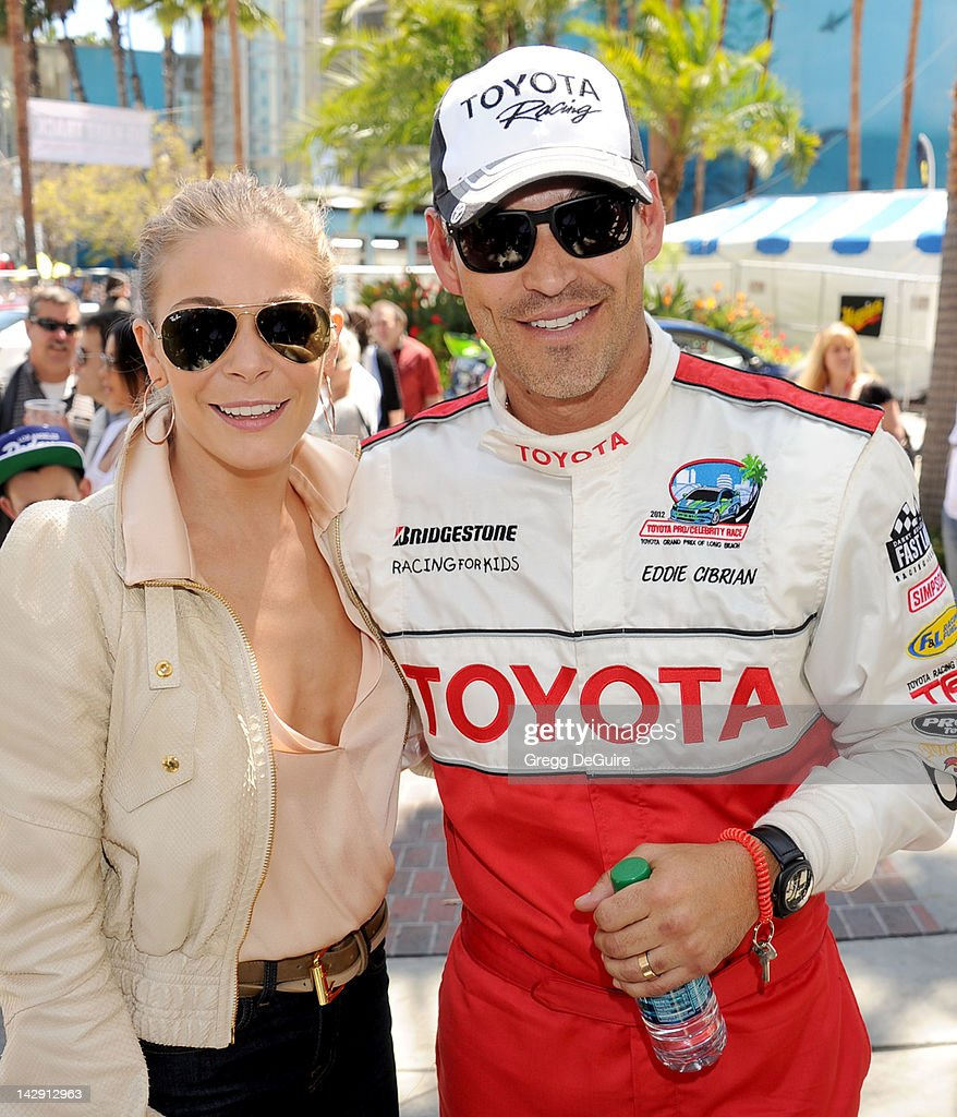 Singer LeAnn Rimes and actor Eddie Cibrian at the 36th Annual 2012 Toyota Pro/Celebrity Race on April 14, 2012 in Long Beach, California.