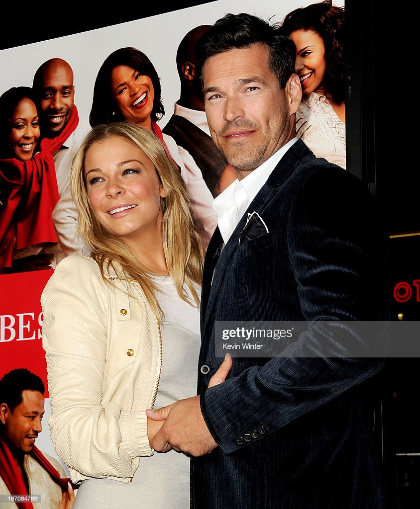 Singer Leann Rimes (L) and her husband actor <a gi-track='captionPersonalityLinkClicked' href=/galleries/search?phrase=Eddie+Cibrian&family=editorial&specificpeople=689383 ng-click='$event.stopPropagation()'>Eddie Cibrian</a> arrive at the premiere of Universal Pictures' 'The Best Man Holiday' at the Chinese Theatre on November 5, 2013 in Los Angeles, California.
