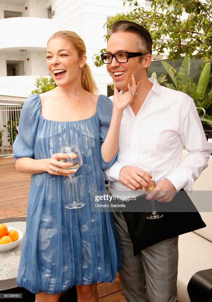 Singer LeAnn Rimes (L) and make-up artist Troy Surratt attend the Dior Beauty Luncheon held at Hotel Shangri-La on June 3, 2009 in Santa Monica, California.