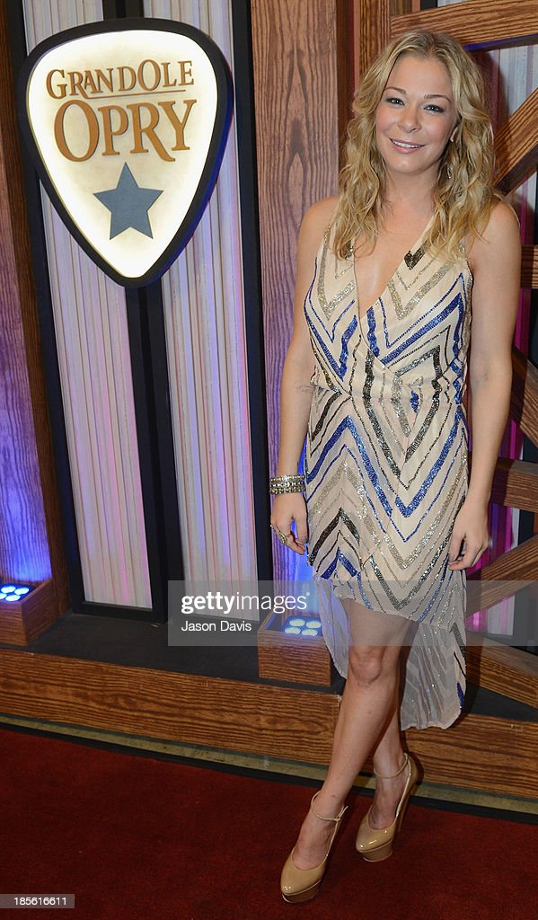 Singer <a gi-track='captionPersonalityLinkClicked' href=/galleries/search?phrase=LeAnn+Rimes&family=editorial&specificpeople=208815 ng-click='$event.stopPropagation()'>LeAnn Rimes</a> appears during the 5th annual Opry Goes Pink show at The Grand Ole Opry on October 22, 2013 in Nashville, Tennessee.