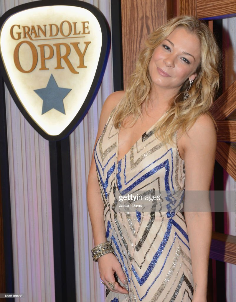 Singer LeAnn Rimes appears during the 5th annual Opry Goes Pink show at The Grand Ole Opry on October 22, 2013 in Nashville, Tennessee.
