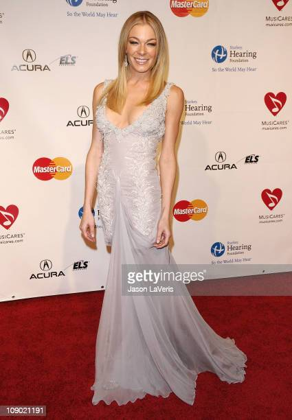 Singer LeAnn Rimes attends the 2011 MusiCares Person of the Year at Los Angeles Convention Center on February 11 2011 in Los Angeles California