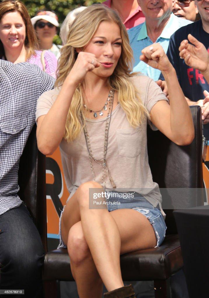 Singer Leann Rimes is seen at Universal CityWalk on July 23 2014 in Los Angeles California