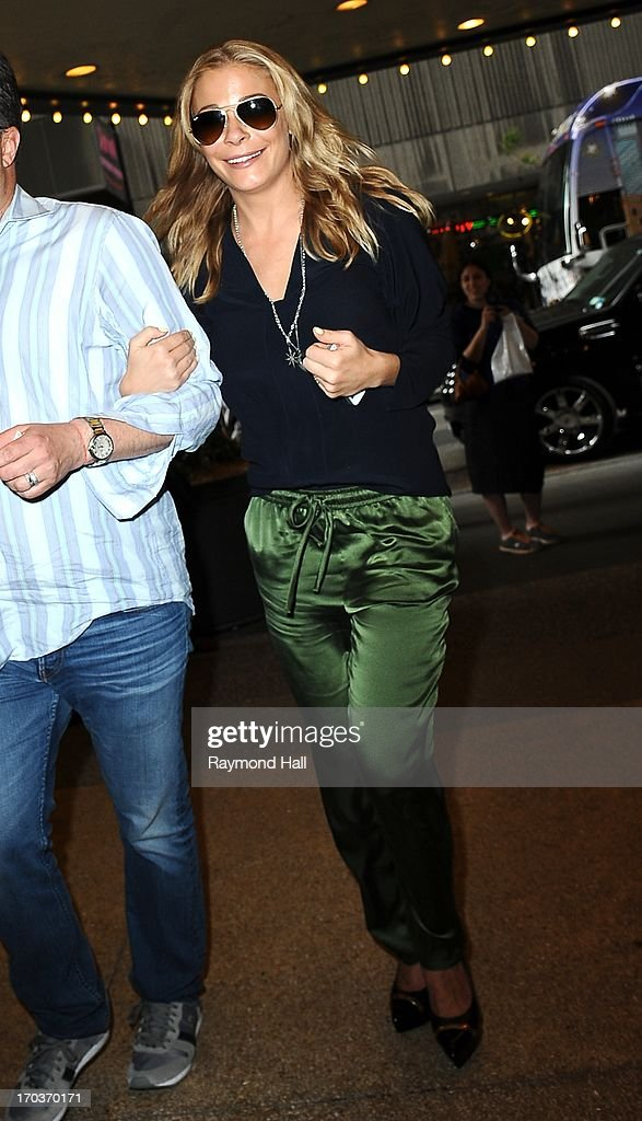 Singer LeAnn Rimes is seen outside MTV studio on June 11, 2013 in New York City.