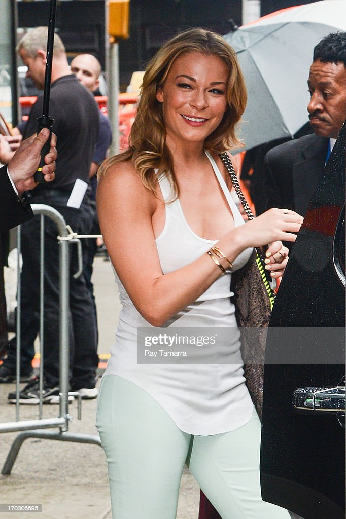 Singer LeAnn Rimes leaves the 'Good Morning America' taping at the ABC Times Square Studios on June 10, 2013 in New York City.